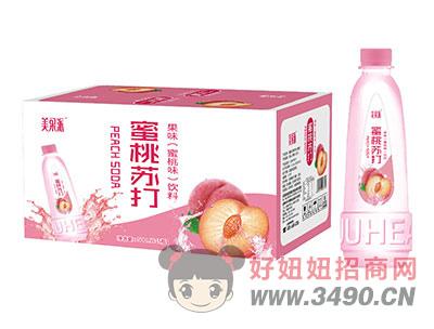 美果派蜜桃苏打果味饮料500mlx15瓶