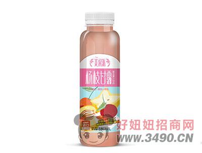 美果派杨枝甘露樱桃+黄桃+杨桃复合果汁饮料380ml
