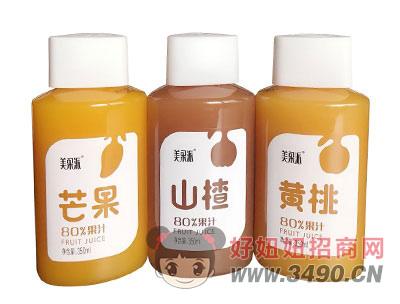 美果派芒果山楂黄桃果汁350ml瓶