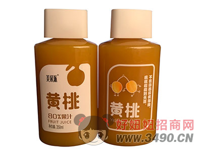 美果派黄桃果汁350ml