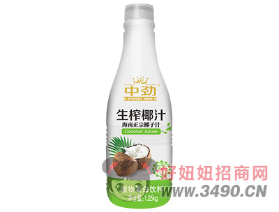 中劲生榨椰汁海南正宗椰子汁1.25kg