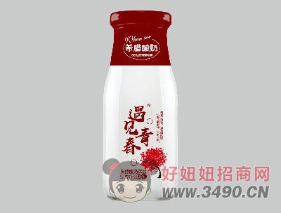 希�D酸奶�l酵型300ml�t��味