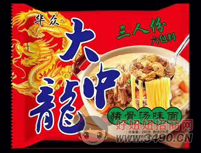 华众大中龙猪骨汤味面240g