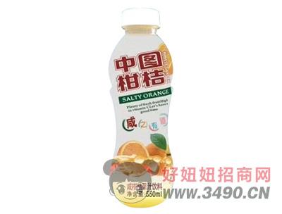 中国柑桔咸柑桔果汁饮料550ml