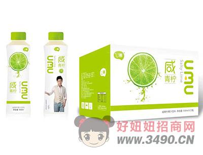 U幕咸青柠果汁饮料500ml×15瓶