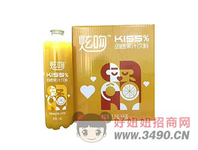 炫吻KISS甜橙果汁饮料1.18LX6瓶