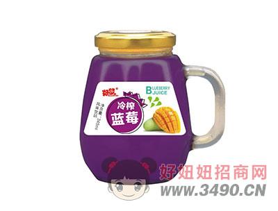 好梦冷榨蓝莓果汁饮料345ml