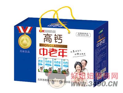 浩明中老年高钙奶1x5x12盒