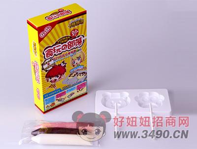 卡库部落手工巧克力棒棒糖(带模型)