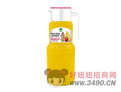 淇果庄园草莓恋菠萝复合果汁饮料1.5l