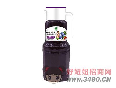 淇果庄园蓝莓恋枸杞复合果汁饮料1.5l
