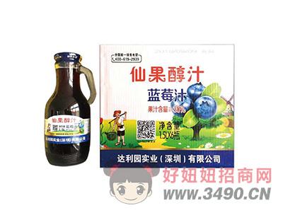 达利园实业鲜果醇汁蓝莓汁饮品1.5LX6瓶