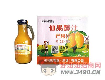 达利园实业鲜果醇汁芒果汁饮品1.5LX6瓶