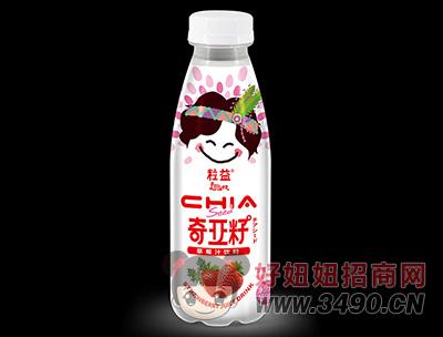 粒益奇��籽草莓汁�料450ml