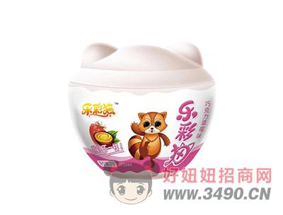 乐彩猫系列巧克力牛奶味+多重玩具27gX12个X8盒(红)