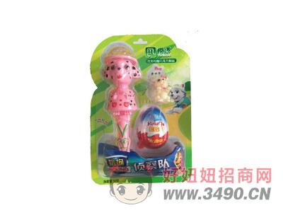 猎狗侦察队吸板巧克力味+多款玩具15gX40板(绿)