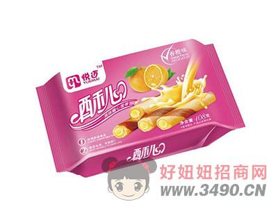酥心酱心蛋卷香橙味108g(红)