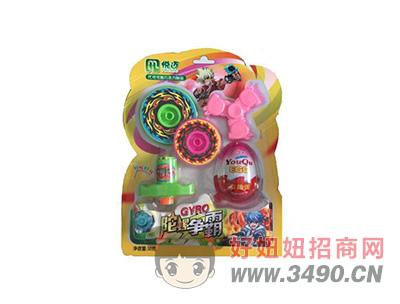 陀螺争霸吸板巧克力味+多款玩具15gX40板