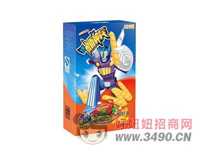 鲜虾条香辣味+多款玩具50g(36盒/箱)