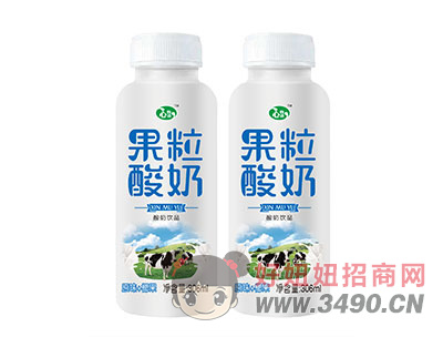 果粒酸奶饮品原味+椰果306ml