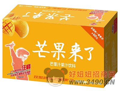 修花芒果来了芒果汁饮料350ml×15瓶