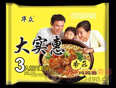华众大实惠香菇炖鸡面232g