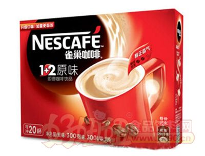 雀巢1+2原味速溶咖啡饮品300g