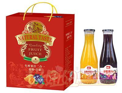 好梦生榨果汁(蓝莓+芒果)二合一礼盒