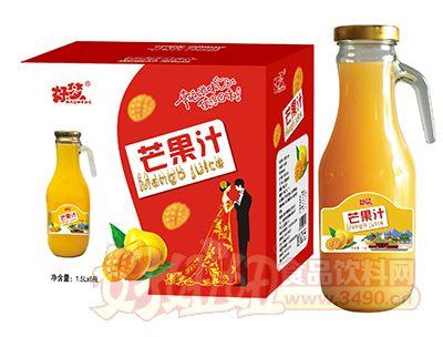 好梦芒果汁1.5L×6瓶(手柄玻璃瓶)