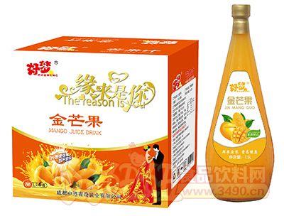 好梦金芒果汁1.5L×6瓶(小口玻璃瓶)
