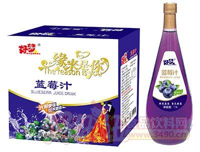 好梦蓝莓汁1.5L×6瓶(小口玻璃瓶)