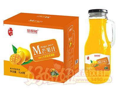 常想知芒果汁1L×6瓶(手柄玻璃瓶)