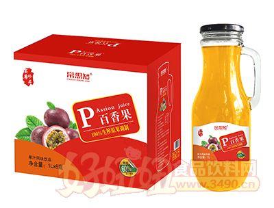 常想知百香果汁1L×6瓶(手柄玻璃瓶)