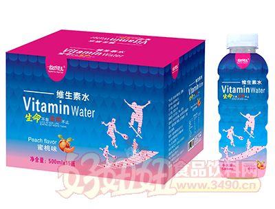运动范儿蜜桃味维生素水500ml×15瓶