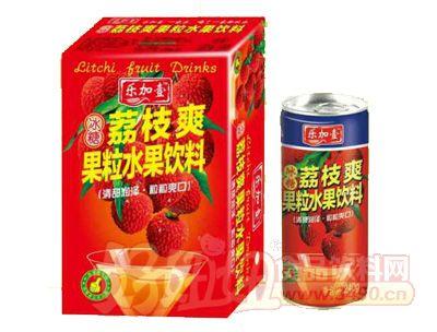 乐加壹荔枝爽水果饮料饮品240gx24罐