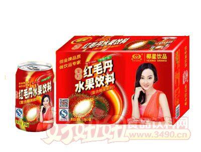 椰星红毛丹水果饮料310g×20罐