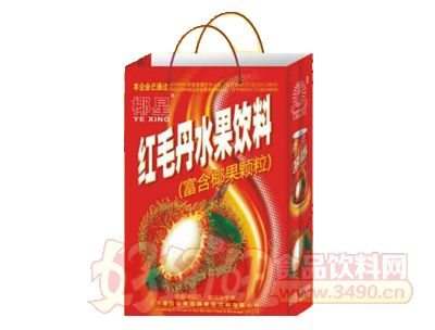 椰星红毛丹水果饮料250g×24罐手提袋