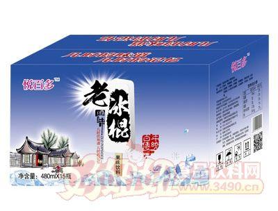 悦百多老冰棍果味饮料480mlX15