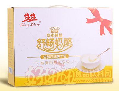 生生皇室尊品舒畅奶酪全脂风味酸牛乳150g×12