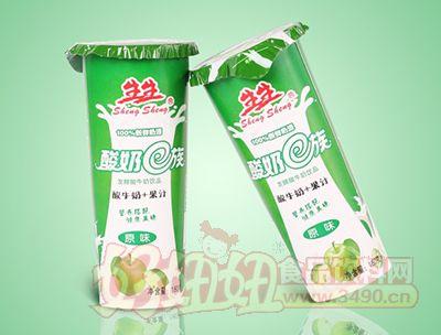 生生酸奶E族原味发酵酸牛奶饮品180g