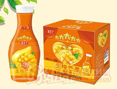 鑫养卫生榨芒果汁饮料1L×6瓶