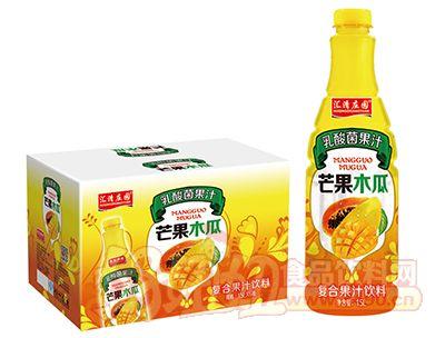 汇清庄园乳酸菌芒果木瓜复合果汁饮料1.5L×6瓶