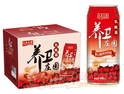 汇清庄园养卫庄园乳酸菌野山楂汁960mL×6罐