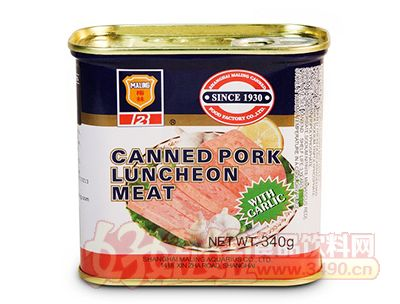 340g蒜香午餐肉