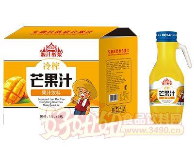 源汁醇浆冷榨芒果汁饮料1.5Lx6瓶箱装