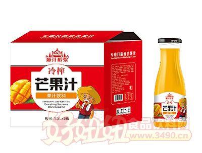 源汁醇浆冷榨芒果汁饮料1.5Lx6瓶