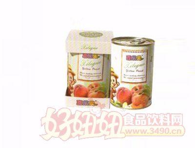 黄桃罐头425g/罐X12罐