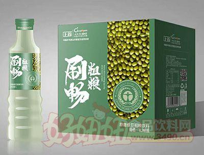 上首刷畅原磨绿豆粗粮饮料1lx6瓶