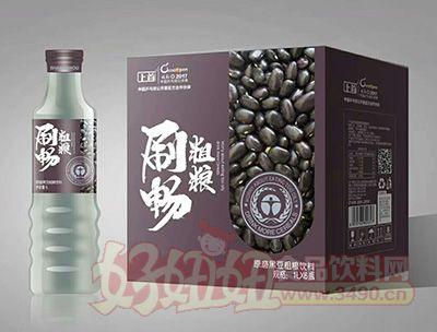上首刷畅原磨黑豆粗粮饮料1lx6瓶