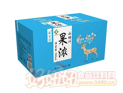 果浓山楂汁500mlx15瓶